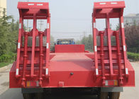 SINOTRUCK 2/3/4 Axles Semi Low Bed Trailer Exported To Sudan In Red Color