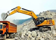 Yellow Long Arm Hydraulic Crawler Excavators For Loading Capacity 30 Ton
