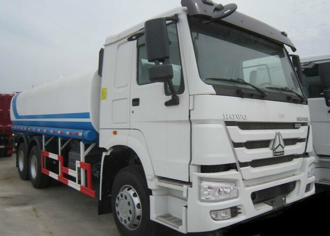 CNHTC 16-22 CBM Mobile Water Truck ZZ1257N404 336 HP With 16-22m3 Tank Volume