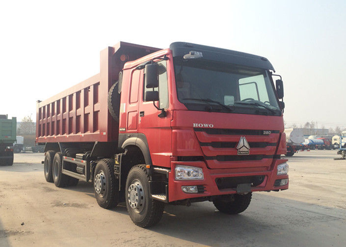 Hydraulic 8*4 Backward Tilting Mining Dump Truck For Material Transportation
